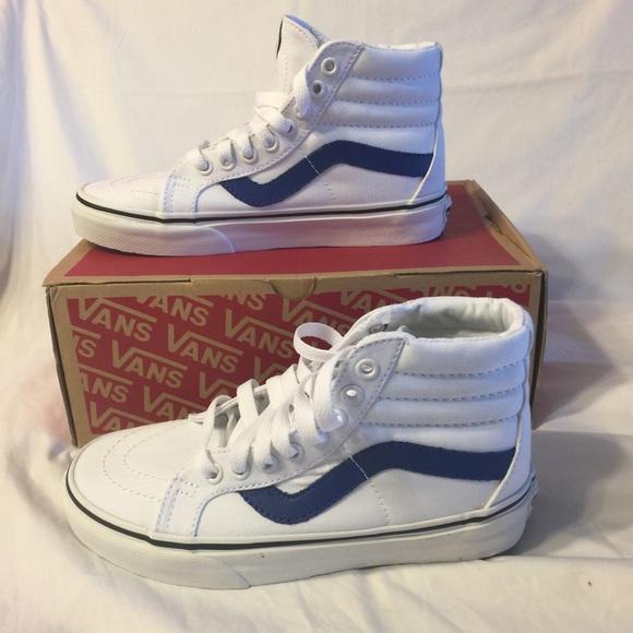 b24d83d4cd Vans Sk8 Hi Reissue white blue shoes W 5 Boys 3.5